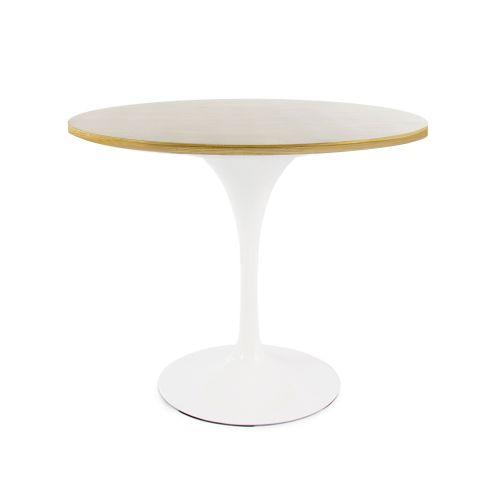 Tulip Style Table, 90cm Diameter Top - Oak