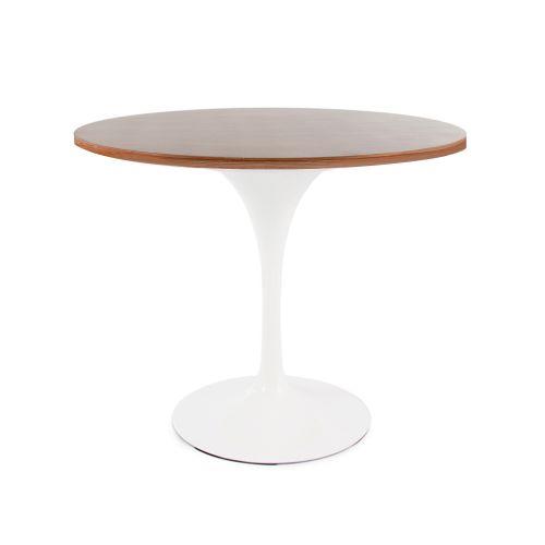 Tulip Style Table, 90cm Diameter Top - Walnut