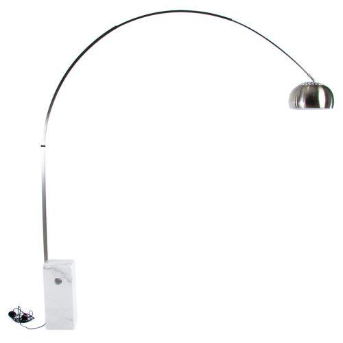 Achille Castiglioni Arco Style Marble Base Floor Lamp