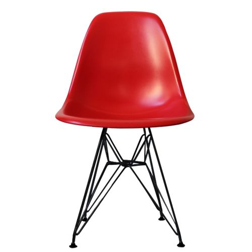 Charles Ray Eames Style DSR Side Chair Black Legs