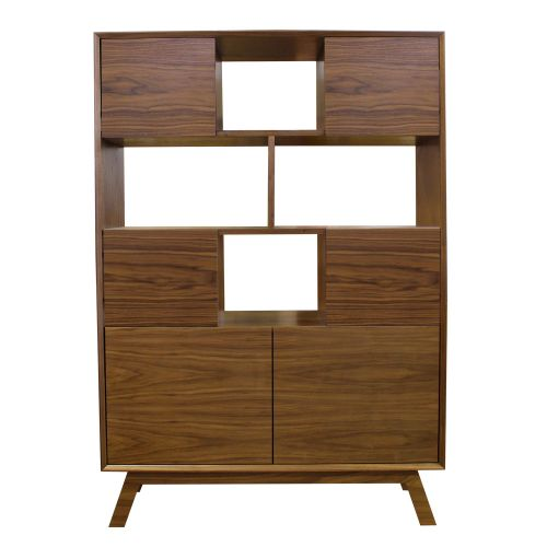 Butterfly Walnut Bookcase