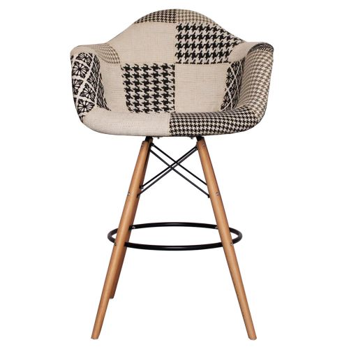 Charles Ray Eames Style Fabric DAB Bar Stool