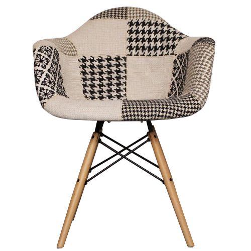 Charles Ray Eames Style Fabric DAW Arm Chair