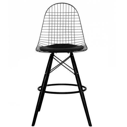 Charles Ray Eames Inspired DKB Barstool Black Legs