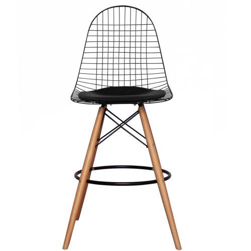 Charles Ray Eames Inspired DKB Barstool Natural Legs