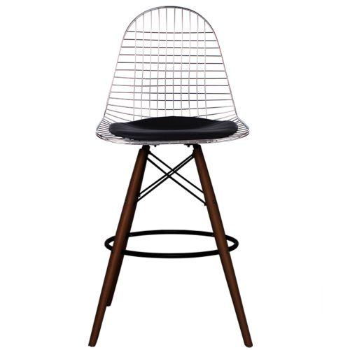 Charles Ray Eames Inspired DKB Barstool Walnut Legs