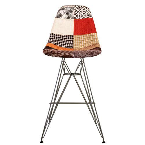 Charles Ray Eames Style Fabric DSBR Bar Stool