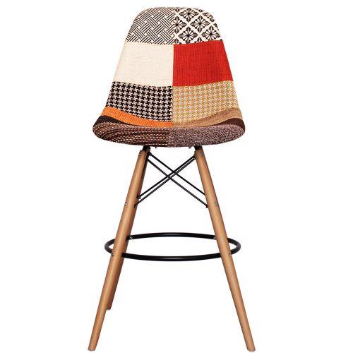Charles Ray Eames Style Fabric DSB Bar Stool