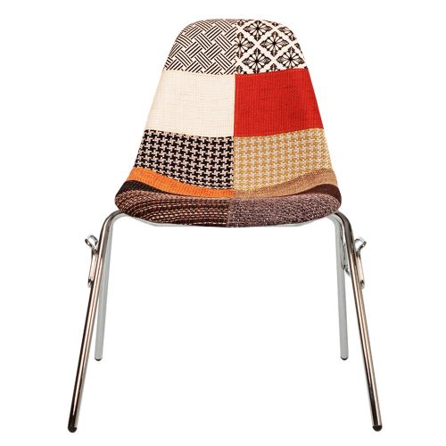 Charles Ray Eames Style Fabric DSS Side Chair