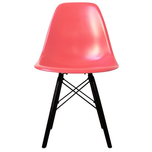 Charles Ray Eames Style DSW Side Chair Black Legs