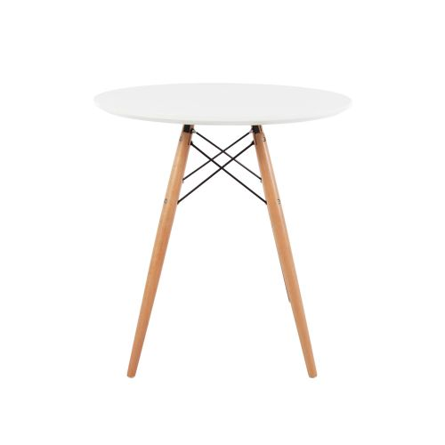 Charles & Ray Eames Style 70cm White Round Dining Table