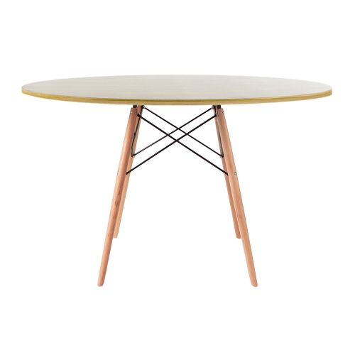 Charles & Ray Eames Style 120cm Oak Round Dining Table
