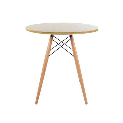 Charles & Ray Eames Style 70cm Oak Round Dining Table
