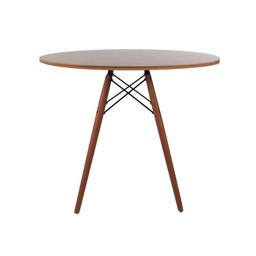 Charles & Ray Eames Style 90cm Walnut Round Dining Table