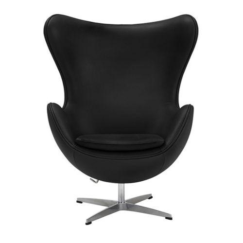 Arne Jacobsen Style Egg Chair - Leather