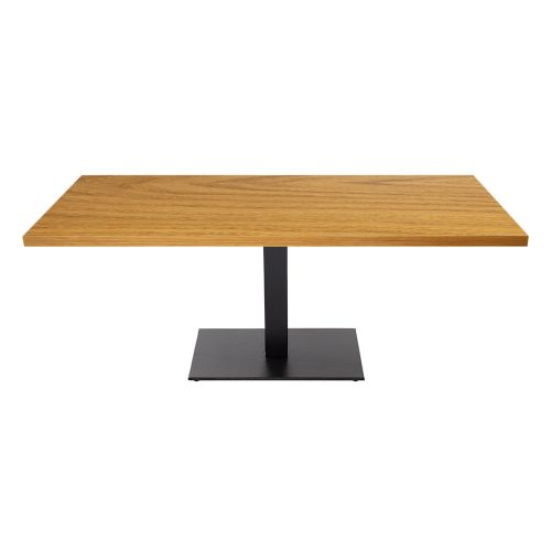 Ferrara Single Pedestal Coffee Table (Veneer Top)