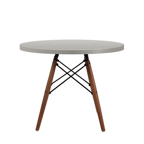 Charles Ray Eames Style Dowel Round Side Table Grey