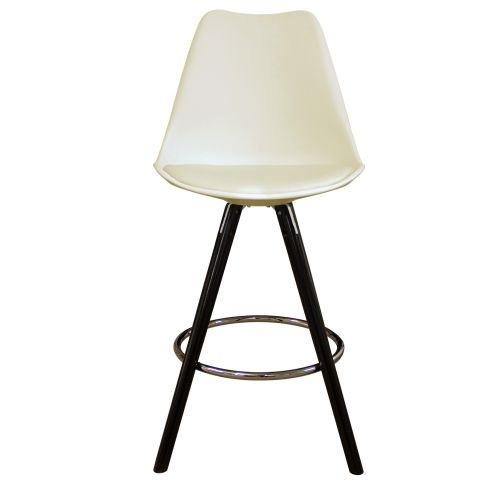 Charles Ray Eames Inspired I-DSB Bar Stool Black Legs
