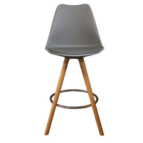 Charles Ray Eames Inspired I-DSB Bar Stool Natural Legs