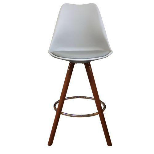 Charles Ray Eames Inspired I-DSB Bar Stool Walnut Legs