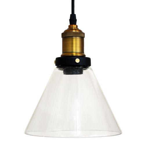 Karasjok Glass/Brass Pendant Lamp