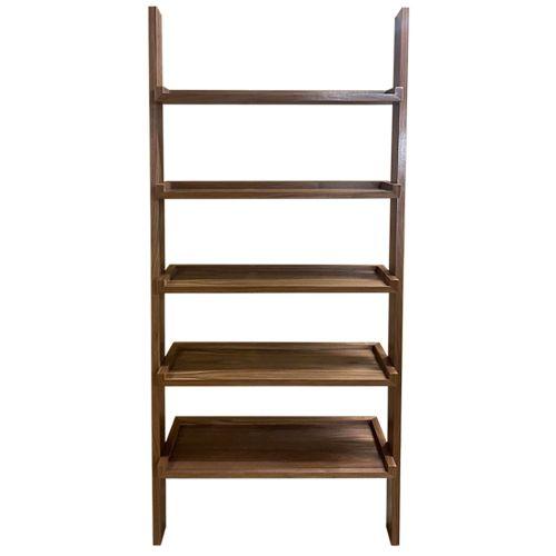 Kensington Walnut Ladder Shelf Storage Unit