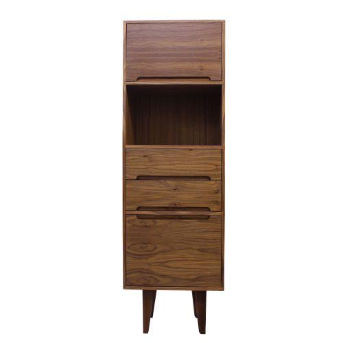 Kensington Walnut Compact Bookcase