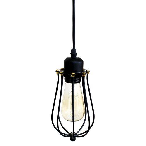 Kevo Black Cage Pendant Lamp