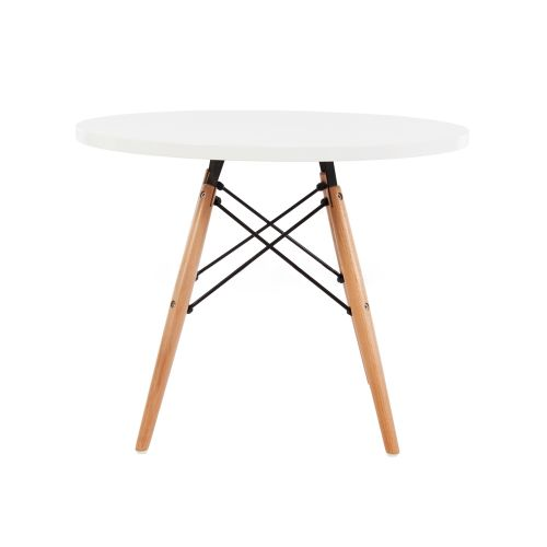 Charles Ray Eames Style Dowel Round Side Table