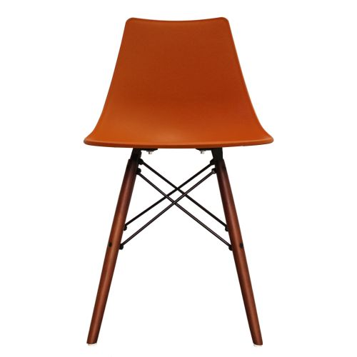 Charles Ray Eames Inspired Nora DSW Side Chair Walnut Legs
