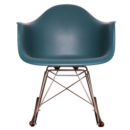 Charles Ray Eames Style Walnut RAR Rocking Chair