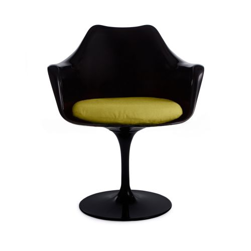 Arm Tulip Style Black Chair