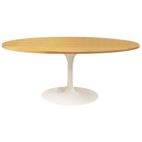 Tulip Style Table, Top Oval Table 170cm - Oak