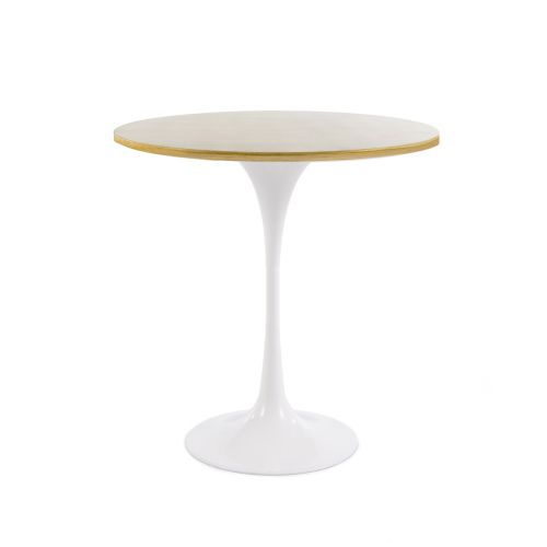Tulip Style Table, 50cm Diameter Top - Oak