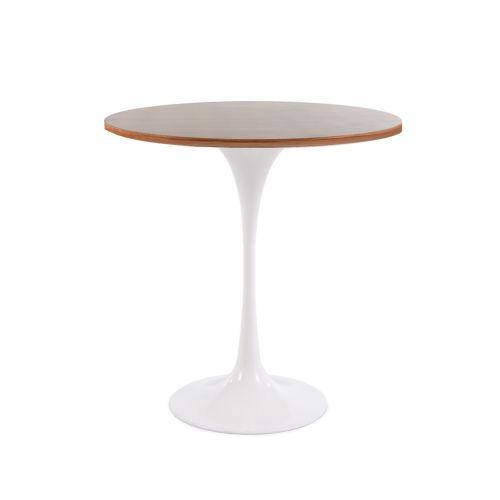 Tulip Style Table, 50cm Diameter Top - Walnut