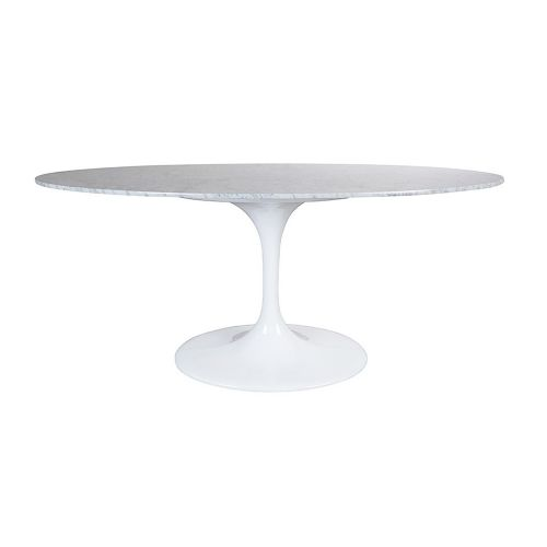 Tulip Style Table, Top Oval Table 170cm - Marble