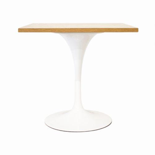 Tulip Style Table, Square Top 90cm- Oak