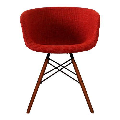 Vogue Fabric DAW Walnut Armchair