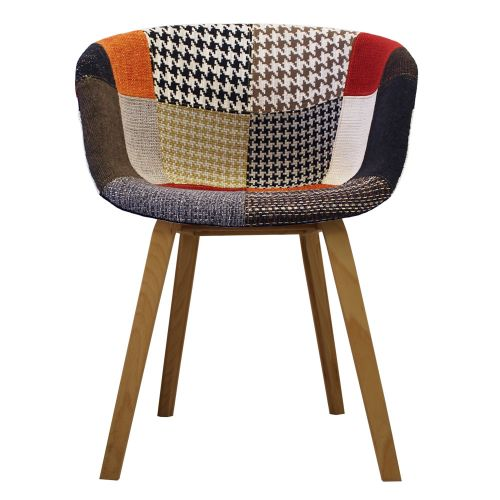 Vogue Fabric Arch Natural Armchair