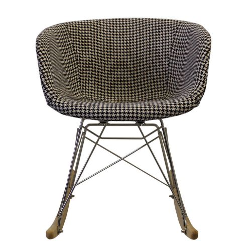 Vogue Fabric RAR Rocking Chair Natural