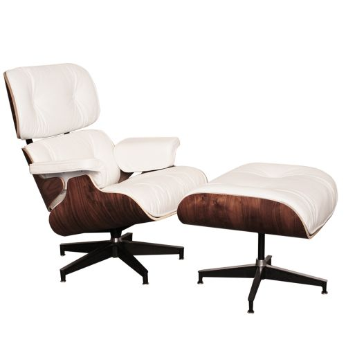 Eames Inspired Lounge Chair and Ottoman Walnut