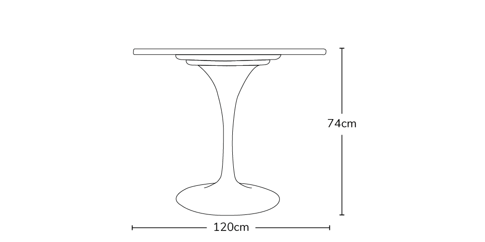 Tulip Style Table Eero Saarinen Inspired Marble Top